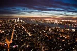 Sunset in New York 2 by angelapin