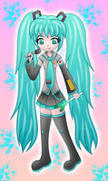 Miku Hatsune (Vocaloids) colored by MikariStar