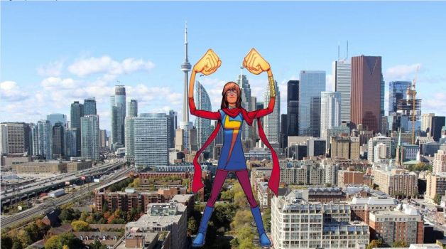 Attack of the 50ft Ms Marvel 1 by demonmanofdarkness