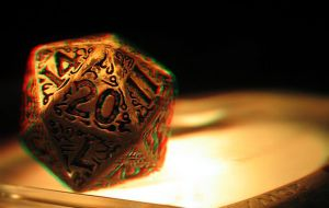 Dungeons and Dragons Dice 3-D conversion by MVRamsey