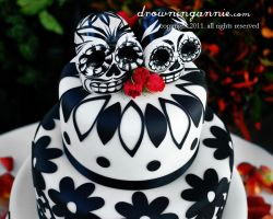 day of the dead cake by drowningannie