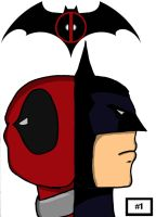 Deadpool Batman Team-Up by ksdesign09