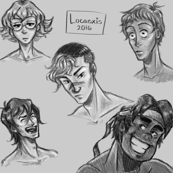 Voltron Sketches by Locaexis