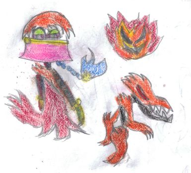 Ifrit Trio by Silver-Ninja