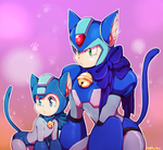 more blue cats by KirbySuperStar96