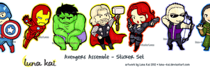 Avengers - Sticker Set by luna--kai