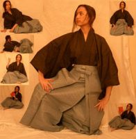 Yellow Hakama Pack - Sitting by kuroitsuki-stock