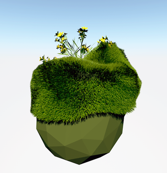 Grass and low poly by tokfrans