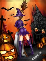 A late Halloween with Sanxi by Apples13