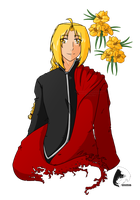 Edward Elric - Flowers by windrider01