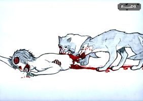 zombie feeding the wolves (reupload from jan-21-14 by sissadDS