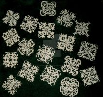 First Paper Snowflakes 2013 by InkArtWriter