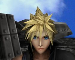 Cloud Strife Render 2 by DarksiderXZero