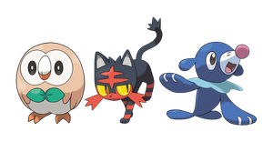 ROWLET, LITTLEN AND POPPLIO by HOBY-GRENOUSSE