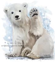 Polar bear by Kajenna