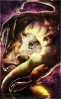 Dark Charizard by Aurora-Silver