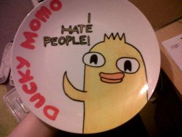 Ducky Momo Plate by Dooficles