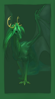 Green dragon by AironMag