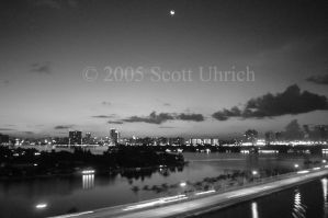 B and W Miami at night by vbcsgtscud