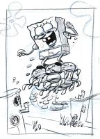 SpongeBob Jellyfish Rough by shermcohen