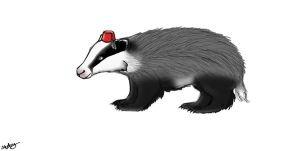 Badger With A Fez by OceanDust