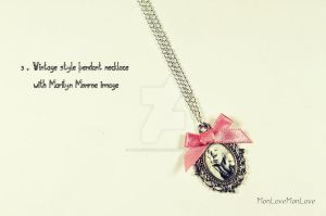 Marilyn Monroe charm necklace TO WIN - COMPETITION by MonLoveMonLove