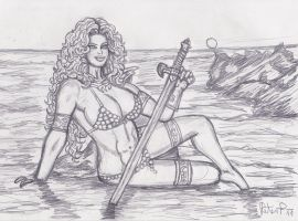 Red Sonja relaxing by yerbouti