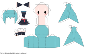 Traveling Mood Miku Papercraft by Tamuu-ii