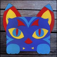 Art Deco Paper Cat by masonmouse