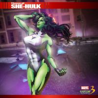 MVC3: TA- She-Hulk by octobomb