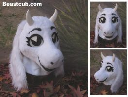 Toony White Goat Head by LilleahWest