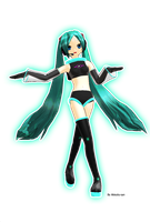 MMD NewComer:Miku Space by Akisuky-san
