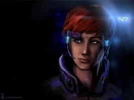 Commander Jane Shepard by Ti-R