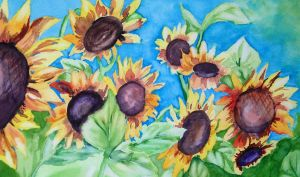 Sunflowers II by Lidia-v-Essen