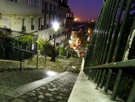 Montmartre street by Guilllaume