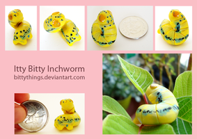 Itty Bitty Inchworm - SOLD by Bittythings