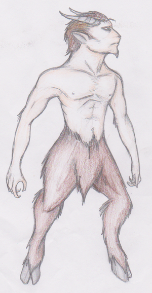 Satyr Color Pencil
