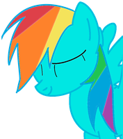 Rainbow Dash Headshot Colored by Kyukon-Malygos