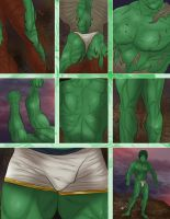 DAVID BANNER transformation into THE HULK (3 of 3) by jackcrowder