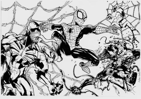 Spidey and friends by TheKaNdi