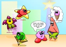 Patrick meets Kirbys Air Ride by littlemisskirby