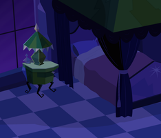 Background: Crystal Empire, Twilight's Bedroom by csillaghullo