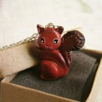 Squirrel Necklace by FlowerLandBySaraMax