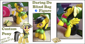 My little Pony FIM Daring Do Custom Blind Bag by Asukatze
