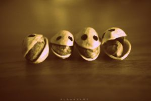 Pistachio Friends Laughing by alahay