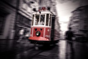 The Red Tram by PortraitOfaLife