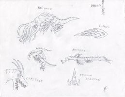 Genetix Mutant Sketches by Dragonsmana