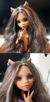 Repaint - Monster High - Clawdeen Wolf by Neko-Art
