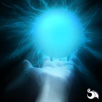 Hand with electrical ball by mcvirria