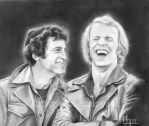Laughing Starsky and Hutch by enednoviel
